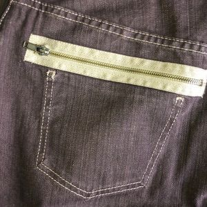 Ashley Stewart Skirts - Ashley Stewart Brown Asymmetrical Zipper Skirt